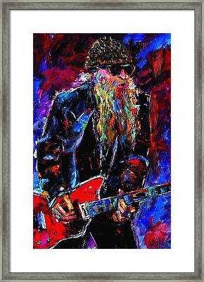 Zz Top Billie Gibbons Framed Print by Debra Hurd