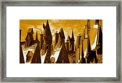 Hogsmeade Village Pano Work One Framed Print by David Lee Thompson