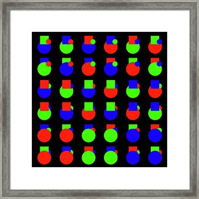 000 Circle And Square - Phi Framed Print