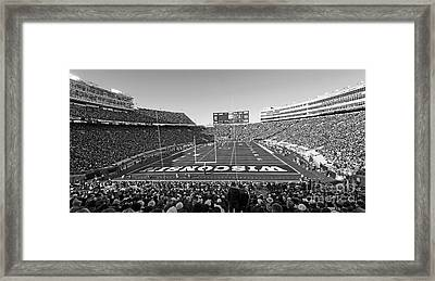 0095 Bw Camp Randall Stadium Framed Print