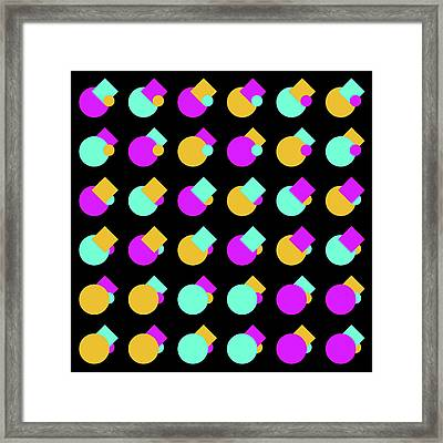 045 Circle And Square - Phi Framed Print