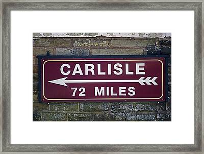 06/06/14 Settle. Period Destination Board. Framed Print