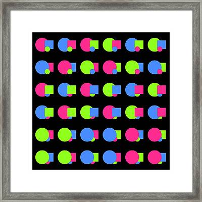 090 Circle And Square - Phi Framed Print
