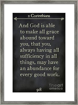 2 Corinthians 9 8-bible Verse Wall Art Collection Framed Print