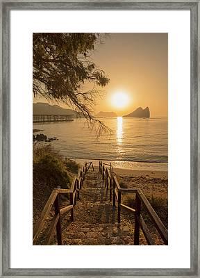 Access To The Beach At Dawn Framed Print