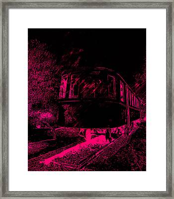 Abandoned Train Framed Print