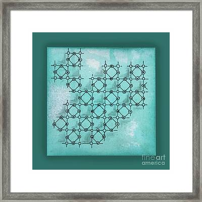 Framed Print featuring the drawing Abstract Biological Illustration by Ariadna De Raadt