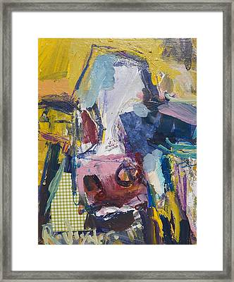 Abstract Cow Painting Framed Print