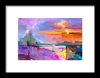 Hand Painted Framed Prints