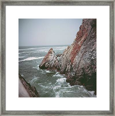 Acapulco Rocks Framed Print