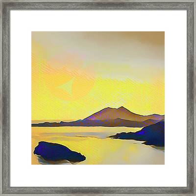 Aegean Sea And Sun Framed Print