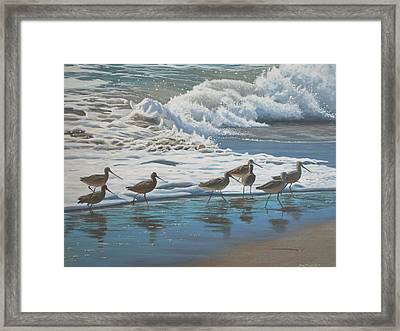 Framed Print featuring the painting Afternoon Surf by Peter Mathios