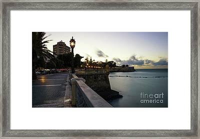Framed Print featuring the photograph Alameda Apodaca Promenade Cadiz Spain by Pablo Avanzini