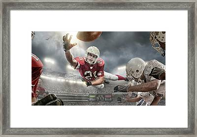 American Football Action Framed Print by Peepo