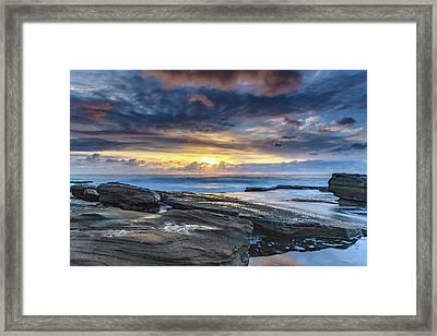 An Atmospheric Coastal Sunrise Framed Print