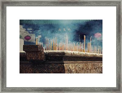 Ancient Dafo Buddhist Temple Framed Print by Tunart