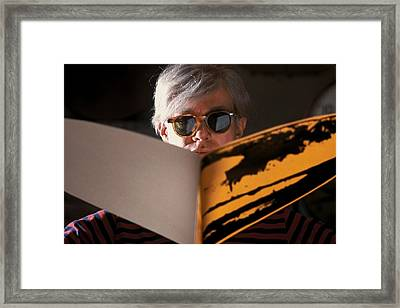 Andy Warhol In New York, United States Framed Print by Herve Gloaguen
