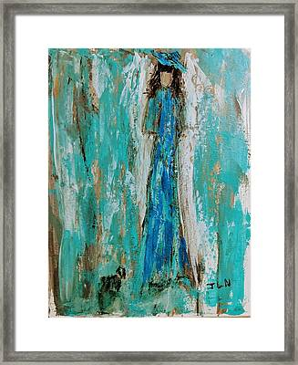 Angel With Her Pet Framed Print