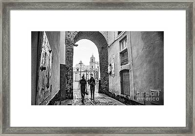 Framed Print featuring the photograph Arch Of The Rose Cadiz Spain by Pablo Avanzini