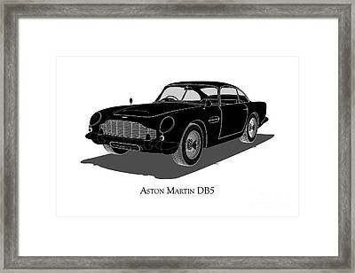 Aston Martin Db5 - Front View Framed Print