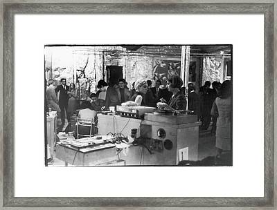 At A Factory Party Framed Print by Fred W. McDarrah