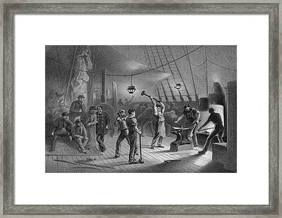 Atlantic Cable Laying Framed Print by Kean Collection