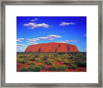 Ayers Rock, Northern Territory Framed Print by Hans-peter Merten