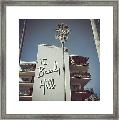 Beverly Hills Hotel Framed Print