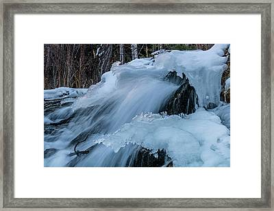 Big Hills Springs Under Snow And Ice, Big Hill Springs Provincia Framed Print