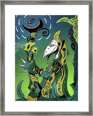 Framed Print featuring the digital art Birdman by Sotuland Art
