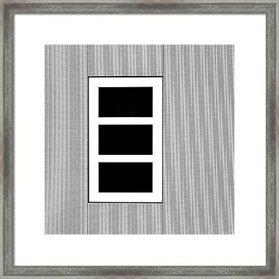 Black Tryptic Framed Print