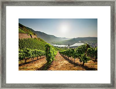 Bremm At Sunrise Framed Print by Jorg Greuel