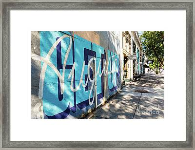 Broad Street Downtown Augusta Ga Framed Print