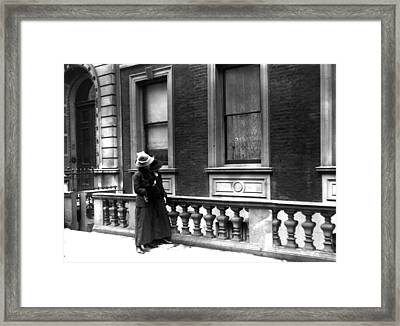 Broken Windows Framed Print by Topical Press Agency