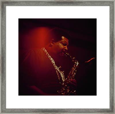 Cannonball Adderley Performs At Newport Framed Print by David Redfern