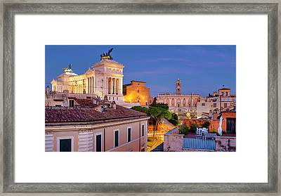 Framed Print featuring the photograph Capitoline Hill by Fabrizio Troiani