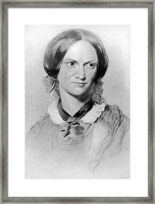 Charlotte Bronte Framed Print by Hulton Archive