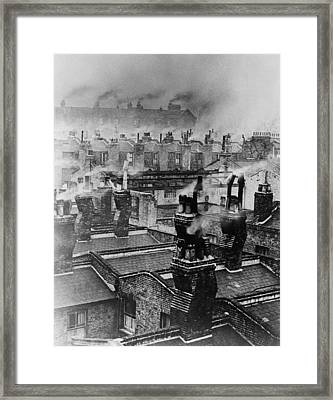 Chimney Smoke Framed Print by Fred Morley