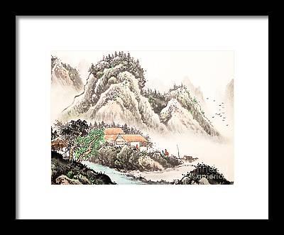 Sumi Framed Prints