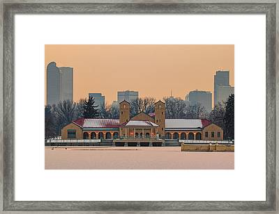 City Park Pavillon Framed Print