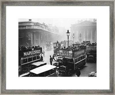 City Traffic Framed Print by Topical Press Agency