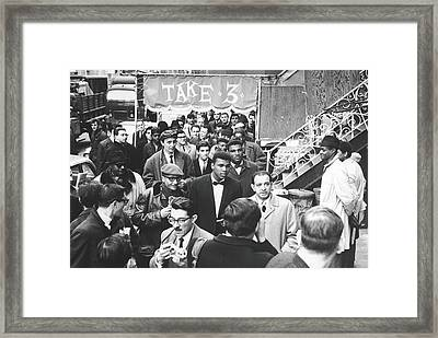 Clay Attends Poetry Reading Framed Print by Fred W. McDarrah