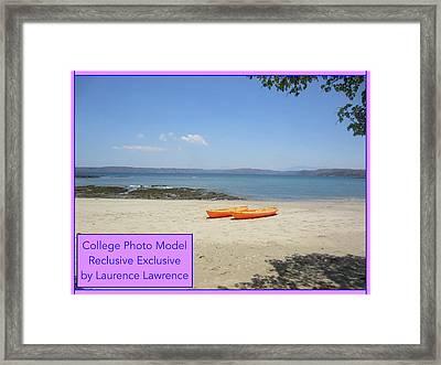 College Photo Model Bn Framed Print
