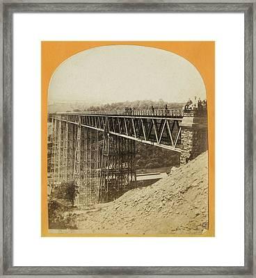 Crumlin Viaduct Framed Print by London Stereoscopic Company