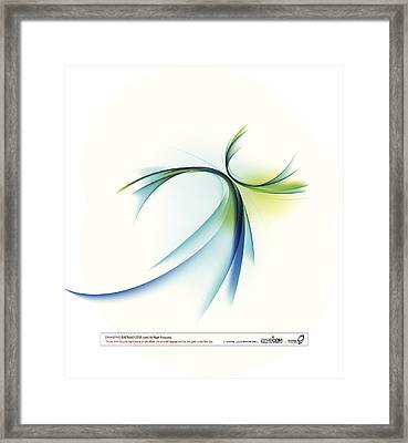 Curved Shape On White Background Framed Print by Eastnine Inc.