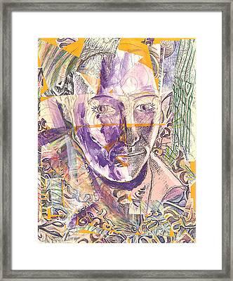 Cut Portrait Framed Print