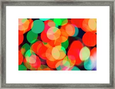 Defocused Lights Framed Print by Tetra Images