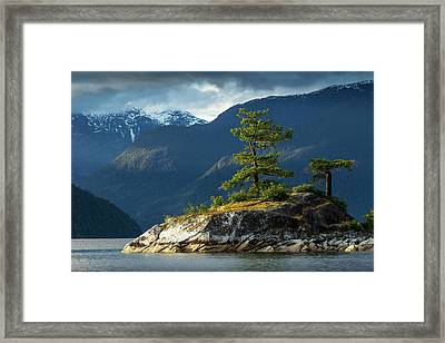 Desolation Sound, Bc, Canada Framed Print