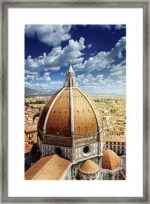 Duomo In Florence Framed Print by Da-kuk