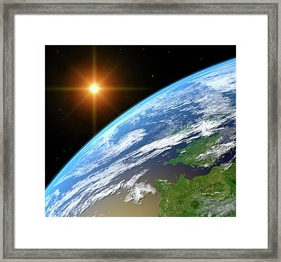 Earth, Artwork Framed Print by Science Photo Library - Roger Harris.